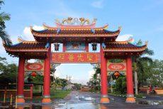 gerbang vihara dharma sasana senggarang